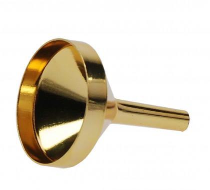 Parfümtrichter Metall gold