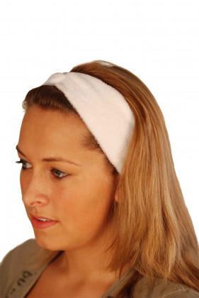 Kosmetik-Haarband weiß