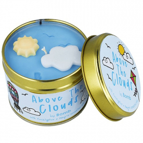 About the Clouds Tin Candle